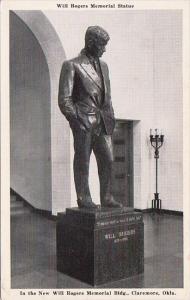 Will Rogers Memorial Statue Claremore Oklahoma 1943