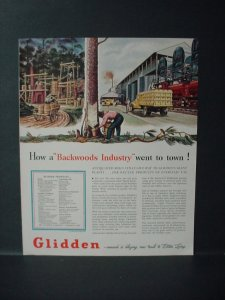 1946 Glidden Paint Rubber Antiquated Rubber Tree Backwood Vintage Print Ad 11057