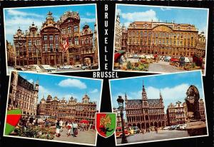 Belgium Bruxelles Brussel, Town Hall Statue Street Cars Voitures