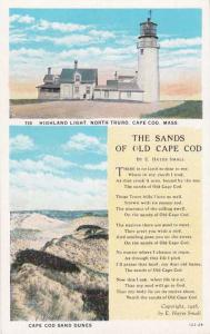 The Sands of Old Cape Cod - Highland Light House, Massachusetts - WB