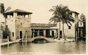 Casino Coral Gables Florida 1920s Venetian RPPC Photo Postcard 13140