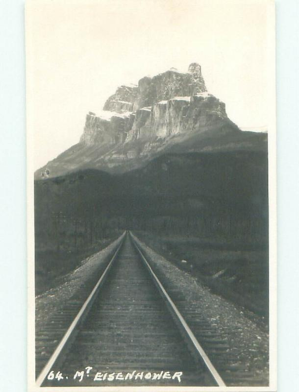 old rppc ABSTRACT - LOOKING DOWN TRAIN TRACK Banff National Park AB W0900