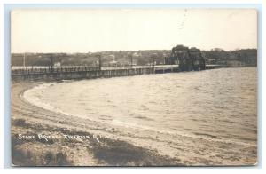 Postcard Stone Bridge, Tiverton, Rhode Island RI RPPC H30