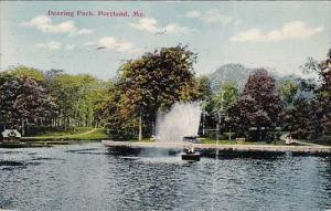 Maine Portland Deering Park 1911