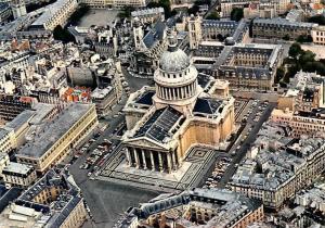 France Paris Vue Aerienne du Pantheon Air view Cars Voitures