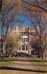 North Dakota~Minot State University~Autumn Trees @ Sidewalk to Old Main~1970s PC