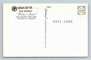 Chicago IL, Naka-No-Ya Tea House, Chrome Illinois Postcard