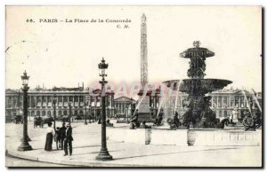 Paris - 8 - Place de la Concorde - Old Postcard