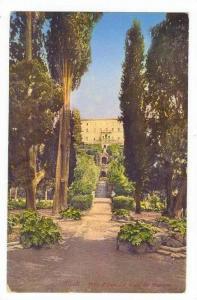Tivoli, Italy, 00-10s Villa d´Este dal Viale dei Cipressi