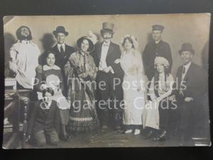 Theatre Group Portrait ( Possibly Leeds) Wedding Photograph - Old RP PC