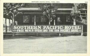 C-1910 Southern Pacific Railroad Hotel RPPC Photo Postcard Yuma Arizona 5388