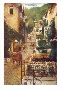 Stairs, View Of High Street, Clovelly (Devon), England, UK, 1900-1910s