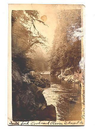 Real Photo, South Fork Nooksack River Washington, Used 1910