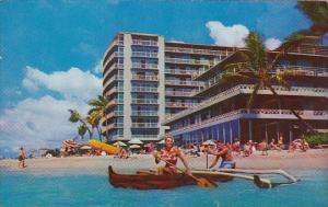 Hawaii Honolulu The Reef Hotel On The Beach At waikiki 1961