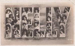 A Girls Named Called NELLY Antique Theatre Star Actress Images Name RPC Postcard
