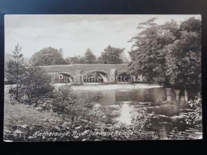 Derbyshire: HATHERSAGE River Derwent Bridge c1919 by F.Frith No.69199