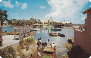 Launching, Young Kids Preparing to set Sail, BERMUDA, 40-60's