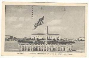 Retreat  Evening Ceremony At A U.S. Army Air Field, PU-1942