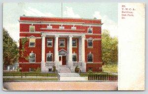 Oak Park Illinois~Four Two-Story Columns on YMCA Building~Facade Closeup 1908 PC