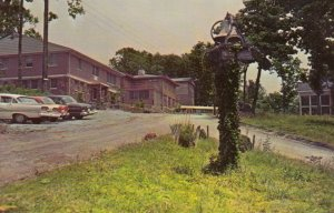 EAGLE EYRIE, Virginia, 1940-60s; Lodge Scene, Baptist Assembly, Classic Cars