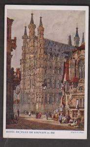 Painting Of City Hall From 1833 In Louvain, Belgium - Unused