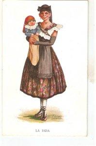 J. Ibañez. La Dida· Nice vintage Spanish postcard