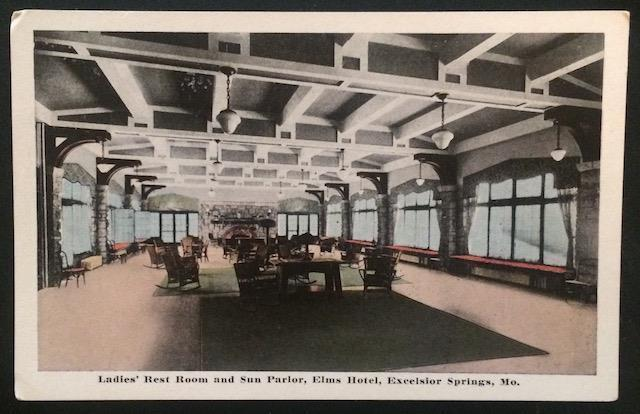 Ladies' Rest Room and Sun Parlor, Elms Hotel, Excelsior Springs, Mo. 10073