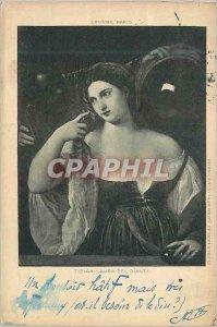 Old Postcard Paris Louvre Tizian Laura Del Dianti