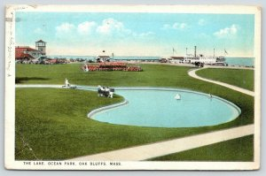 Oak Bluffs MA~Ocean Park Steamer Landing~The Lake~Toy Boat~Our Cottage~1924