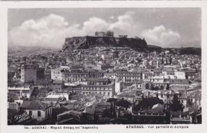 RP: Athenes, Vue partielle et Acropole , Greece , 30-40s