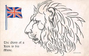 Great Britain Flag~The Glory of a Lion is His Mane~Boots Chemist~Patriotic Serie