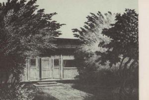 Peking House Lu Hsun Zhou Shuren Victorian Chinese Book Writer Postcard