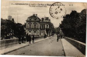 CPA ROMORANTIN (L.-et-C.) - Le Pont et l'Entrée de la Grande Rue (208478)