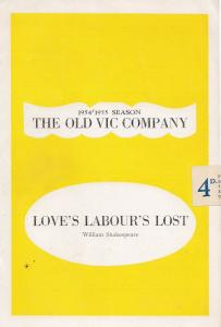 Love's Labours Lost Shakespeare The Old Vic Company Theatre Programme
