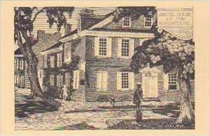 Delaware New Castle Amstel House AD 1730 Albertype