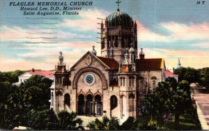 Florida St Augustine Flagler Memorial Church 1958