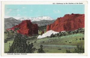 CO Pikes Peak Gateway Garden of the Gods Vintage Postcard