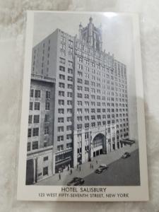 Antique Postcard, Hotel Salisbury  New York