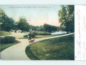 Pre-1907 PARK SCENE Providence Rhode Island RI hp9613
