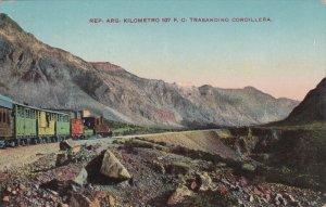 ARGENTINA, 1900-1910's; Kilometro 107 F.C. Trasandino Cordillera