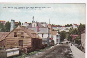 Michigan Mackinac Island The Old Fort Looking Up Astor Street 1912