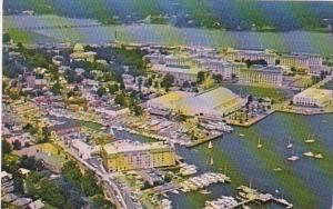 Maryland Annapolis Aerial View Showing Hilton Inn