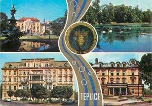 Czech Republic Teplice souvenir multi view Postcard