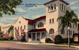 Florida Clearwater First Methodist Church 1954 Curteich