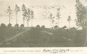Pine Camp, NY General Grant's Tent 1908 Photo Postcard