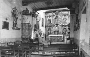 San Juan Capistrano California~Mission San Juan Capistrano Interior~'50s RPPC