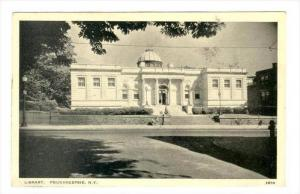 Exterior, Library, Poughkeepsie, New York, PU-1938