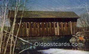 Single Span, Andover, NH USA Covered Bridge Unused