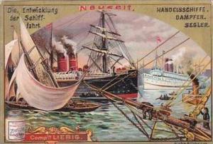 Liebig S453 Evolution Of Ships No 6 Handelsschiffe Dampfer &  Segler