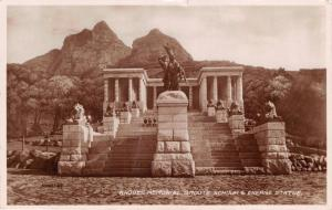 CAPE TOWN SOUTH AFRICA RHODES MEMORIAL~GROOTE SCHUUR ENERGY STATU~PHOTO POSTCARD